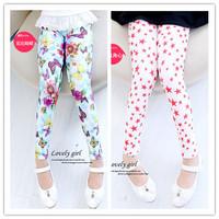 Children's clothing female child legging spring and autumn trousers child pants girls long trousers milk silk elastic pants