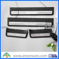 2014 new lighted Vezel door sill scuff plates 4pcs/set