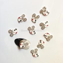 10pcs/pack Micky Mouse Shape 3D Nail Art Decorations Diamond Rhinestones Nails Art Glitter Jewelry for Nail Art Studs TN063