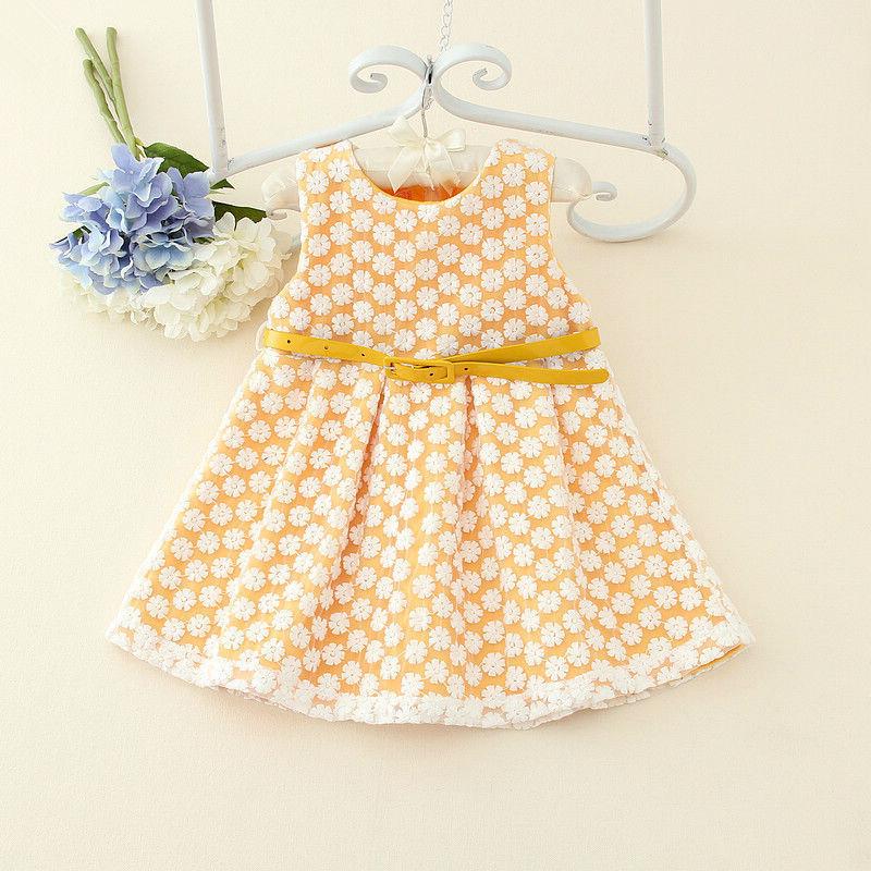 Baby Girls Cute Birthday Gift Dress Autumn Winter Fleece Vest Dress Kids Cotton Blended Sleeveless Dress Child Princess Wearing(China (Mainland))