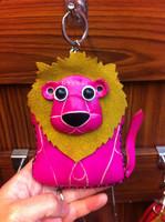 cartoon genuine Leather wallet girl cute cartoon animal lion Key Coin purse bag cowhide handmade hand bag