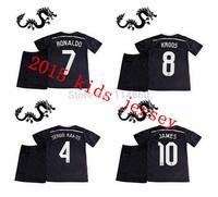 Soccer Jersey Real Madrid Kids Black Dragon 2015 Pink Ronaldo Bale KROOS JAMES Rodriguez Real Madrid Kids 14 15 Uniform Children