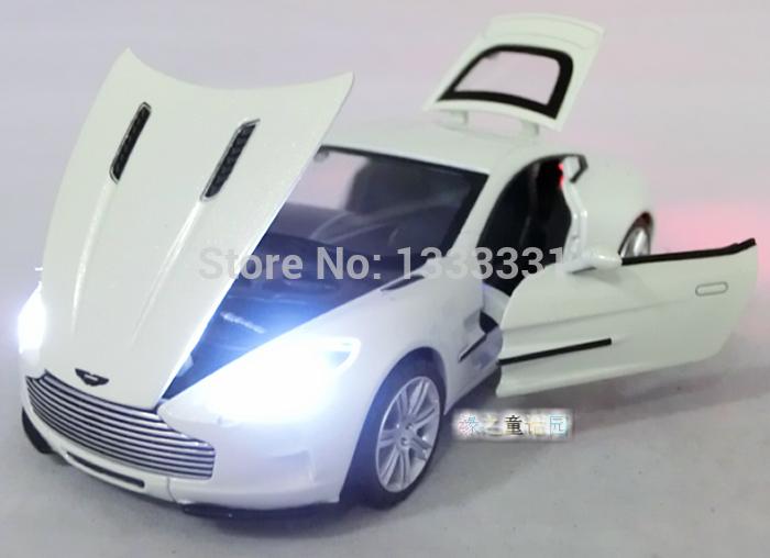 2014 Wanbao 1:32 Aston Martin One-77 Pull Back Acousto-optic Toys Car Classic Alloy Antique Car Model Wholesale Free Shipping(China (Mainland))