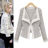 Women Sweaters Casual Knit Cardigan Jackets  Autumn Coats Long Sleeve Fashion Popular Slim Short Outerwear Tops EJ658091
