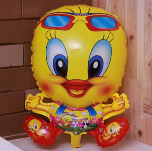 2014 New Arrive send random Yellow Duck Foil Balloons Cartoon Helium Balloon Kids Toys Children Birthday Party Balloons Q125(China (Mainland))