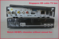 Latest for Singapore Starhub Nagra3 HD Set Top Box Cable TV Receiver Blackbox C1 Support BPL/EPL No Annual Fee