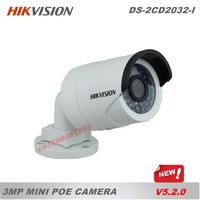 DS-2CD2032-I Hikvision camera,3MP Mini Bullet Camera W/3MP DNR&DWDR&BLC,Network IP camera w/IR and IP66,CCTV Camera