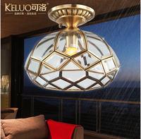 Fashion copper ceiling light console aisle lights balcony outdoor lamp heterochrosis h108 windproof waterproof
