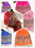 10 Kinds colors New Arrival Exquisite Bohemia Cotton Scarves&Showls For Women Long Mix Color Warm Tassel Pashmina Wholesale