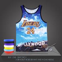 New Brand Kobe Bryant Basketball Vintage Super  Stars Male Tank Tops Clothing Cotton Men Sports Vest