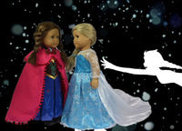 "Xmas gift for children Doll Clothes Fit 18"" American Girl ""FROZEN"" Princess Anna Outfit Fantastic Fits Queen Elsa Magic Dress"