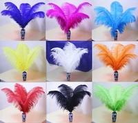 100pcs 40-45 cm 16-18 inch Dyed color mix ostrich feathers plumage wedding party home decoration centerpiece for table bulk sale
