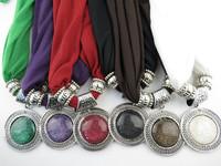 12Pcs/Lot Fashion Jewelry Scarf Big round Pendant Scarf Free Fast Shipping