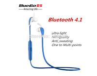Bluetooth Earphone  with Mic Handsfree Headset HIFI Sport Stereo In Ear Headphone Multi-point Sweat Proof 4.1  bluedio N2