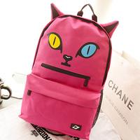 new arrival men and women fashion backpack leisure travel bag neon cat big eyes backpack demon school bag
