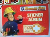 2014 new ! Fireman Sam stickers for boys / little child educational toys / cartoon boy sticker /Sticker Book