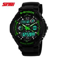SKMEI S-SHOCK Sports Watch Digital for Men Double Led Show Waterproof Wristwatch Fashion Man Clock SDU3001