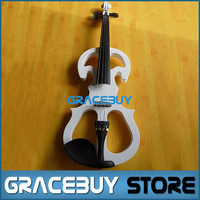 Black/ White Beginner Wood Electric Violin/ Fiddle For Sale, Gift Headphone/ Rosin/ Case And Cable New