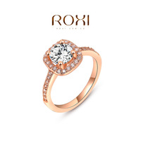ROXI Wholesale fashion white Gold Plated Austrian crystal ring wedding rings for women 201410237