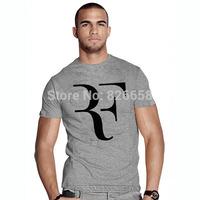 Fashion New rf t-shirt Roger Federer Tennis t shirt Men tshirt Top Quality Cotton Clothing Free Shipping