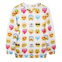 EAST KNITTING G185 New 2014 3d Sweatshirts Women's Hoodies Printed Many Cute Small Face Fashion Thin 3d Women Sweatshirts