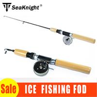 NEW! Ice Fishing Rod 55cm 65cm 75cm Mini Telescopic Fishing Pole Stick Ultra Light Winter Fishing Tackle Tool with Metal Reel