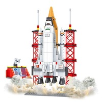 Boys Aviation rockets Model Building Kits Spaceship Rocket launcher models Learning Education Toys High Quality retails P30-64