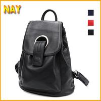 3 Colors!New Preppy Style Backpack Genuine Leather Shoulder Bag Backpacks Schoolbag Korean Women Travel Bag