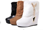 Free shipping snow boots with round head platform wedges heels boots Mao wholesale women boots