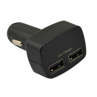 4-in-1 Temperature Display Dual USB Car Charger Output DC 5V/3.1A Charger Adapter For Ipad, Iphone, Samsung