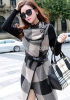 2014 Autumn Winter Woolen Coat Womens Overcoat Temperament Slim Trench Desigual Femininos Wool & Blends Free Shipping