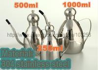 Thickening 304 stainless steel oil can leak oiler drum oil bottle soy sauce bottle vinegar bottle 250ml