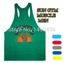 2015 cotton cheap price swag mens bodybuilding tank tops sun gym workout mens stringer tank tops sleeveless shirt men(China (Mainland))