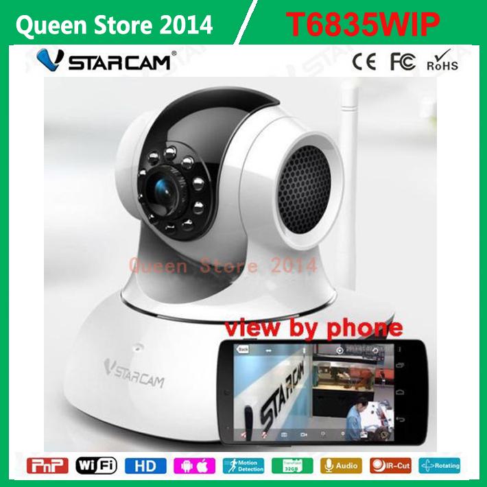 NEW Vstarcam T6835WIP Mini CCTV Security WIFI IP Camera PnP IR-Cut Indoor Nightvison Plug & Play with Micro SD Card Slot(China (Mainland))