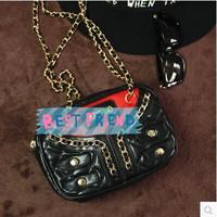 fashion new chain plaid decorated women handbag mos shoulder chain bag Vintage messenger small bag