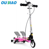 Christmas Gift Child aluminum free style 3 wheels two pedal scooters free shipping by DHL