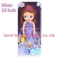 With Retail Box,30CM princess Sofia Doll Sharon Doll Princesa sofia The First Boneca Princesa Sofia Doll for kids,Free Shipping