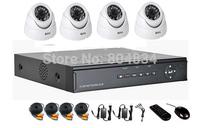 Outdoor 4ch 960H 4pcs CMOS 600TVL camera kit security home surveillance system cctv dvr set