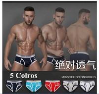 Pink Hero Print Sexy Underwear Men Briefs Calzoncillos Hombre Slips Men's Briefs 5pcs/lot Ropa Interior Sexy Masculina Wholesale