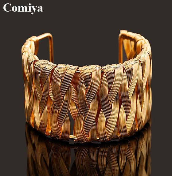 Wholesale Fashion Punk Silver Gold Alloy Wide arm Bangle Cuff Bracelets big pulseiras Femininas Bijoux Women cc indian jewelry(China (Mainland))
