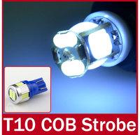 5pcs/lot T10 W5W 194 168 COB 24SMD 24LEDs Bulb Width Light Lamp 2 Modes Strobe Flash Light Idicator Light Signal Brake Lamps 12V