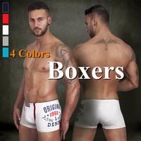 Pink Hero Sexy Print Boxers Underwear Men Cueca Cotton Men Boxer Shorts 5PC / lot Pull in 5Colors M.L.XL.XXL New Arrival-1234