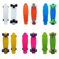 "DIY Color 22"" Penny Style Skateboard Complete Backpack mini Cruiser Retro long skates fish boards Girl Boy longboard 1pcs"