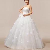 2014 New Arrival Flower Wedding Dress Off The Shoulder Elegant Floor Length Bridal Dress  HS118