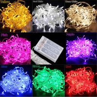 5 piece/Lot 4M 40 LED Fairy String Lights For Wedding Party decoration Christmas LED lights Battery Powered  Free Shipping