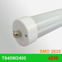 10pcs/lot free shipping LED TUBE 2400MM 8ft 2.4m 40W single pin FA8S 110V high quality T8 tube SMD2835 high lumens