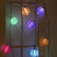 Colorful 10Pcs solar light LED Lantern String Fairy Multicolor Christmas Light Holiday New Year Festival Tree Decoration 3sets