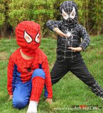 Homem aranha Cosplay terno homem aranha crianças lKids menino de roupas desempenho conjunto de três tamanhos de Halloween MY209 1 a 7 ano(China (Mainland))