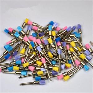 Quality 100pcs New Color Nylon latch flat Polishing Polisher Prophy Brushes Dental Brush For Sale(China (Mainland))