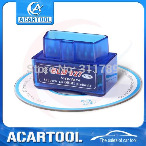 2015 Latest Version Super Mini ELM 327 Bluetooth V2.1 OBD2 Scanner ELM327 OBD 2 Car Diagnostic Interface mini bluetooth elm327(China (Mainland))